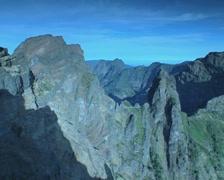 Pico do Arieiro panning shot Stock Footage