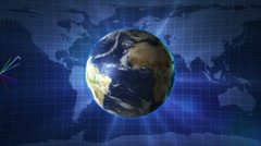 Earth and Business Lines 6 LOOP - HD1080 Stock Footage