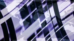 Earth and Business Lines 7 LOOP - HD1080 Stock Footage