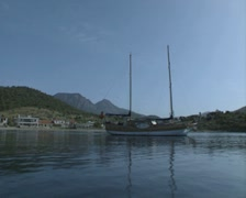 Gulet on the water Stock Footage