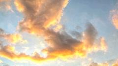 Orange Cloud Time lapse Stock Footage