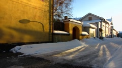 Scandinavia Finland Rauma old town - stock footage