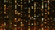 Stock Video Footage of Hong Kong apartments at night  003