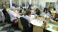 Stock Video Footage of Several women in workplace at Estet Jewelry House manufacturing