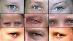 Composition of human eyes 1 Stock Footage
