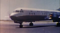 EASTERN AIRLINES Passenger Plane TAKE OFF 1950s Vintage Film Home Movie 517 Stock Footage