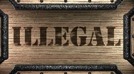 Stock Video Footage of illegal on wooden stamp