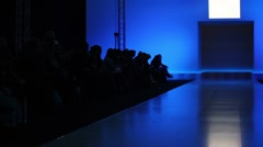 Stock Video Footage of Many people are waiting for beginning of fashion show