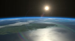Sunrise from space. Earth from space. Stock Footage