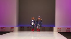 Two little girls in winter clothes from Snowimage Collection - stock footage