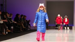 Little girls in winter clothes from Snowimage Collection Stock Footage