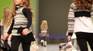 Stock Video Footage of Several little girls in winter clothes from Special Day Collection