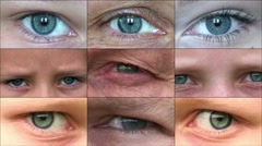 Composition of human eyes 2 Stock Footage