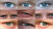 Stock Video Footage of Composition of human eyes 2