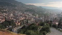 Graveyard. Sarajevo. pan. 4 Stock Footage