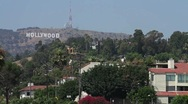 Stock Video Footage of Hollywood Sign & the Hollywood Hills