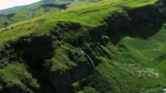 Aerial View of a Plateau in the Arctic Region, Iceland Stock Footage
