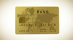 Credit card in HD - stock footage