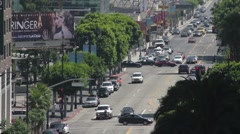Hollywood's Vine Street Long Shot Stock Footage