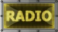 Loop radio Stock Footage