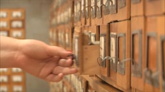 Catalog in the library Stock Footage