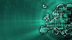 Europe Hi-Tek Background Stock Footage