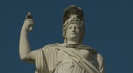 Thr Godess Romas statue at Piazza Popolo (slow zoom) Rome Stock Footage