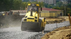 Road construction Stock Footage