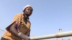 Kenya: Getting water at the Bore Hole Stock Footage
