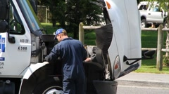 Mechanic, truck Stock Footage