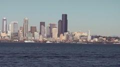 Seattle Skyline 1 Stock Footage