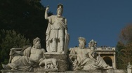 Stock Video Footage of The Goddess Roma statue in Piazza Popolo, Rome