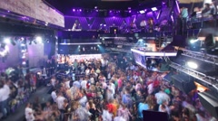 Nightclub disco party dance music Stock Footage