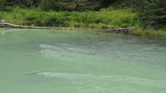 Glacial river Stock Footage