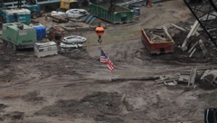 GROUND ZERO CONSTRUCTION SITE Stock Footage