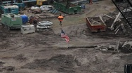 Stock Video Footage of GROUND ZERO CONSTRUCTION SITE