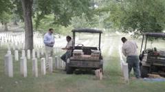 Stock Footage - Arlington Cemetery Workers Stock Footage
