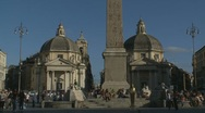 Piazza Popolo, Rome (bells ringing) Stock Footage