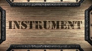Stock Video Footage of instrument on wooden stamp