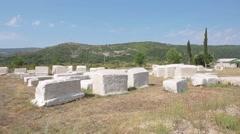 Cemetery. Trebinje Stock Footage
