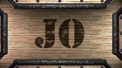 jo on wooden stamp - stock footage