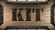 Stock Video Footage of kit on wooden stamp