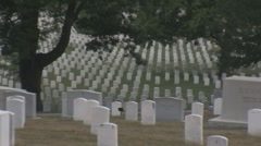 Stock Footage - Arlington Cemetery  Wide zoom out Stock Footage