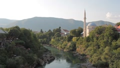 Stock Video Footage of Mosque. Mostar