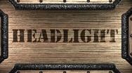 Headlight on wooden stamp Stock Footage
