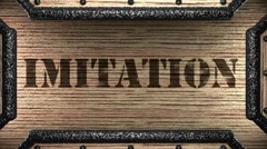 Stock Video Footage of imitation on wooden stamp