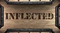 Inflected on wooden stamp Stock Footage