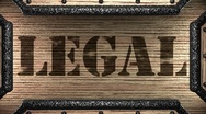 Legal on wooden stamp Stock Footage