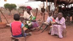 Kenya:  Poor family eats meal - stock footage