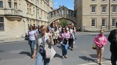 Oxford Bridge of Sighs Stock Footage